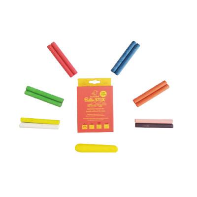 美国 Jaq Jaq Bird 儿童彩色粉笔无尘家用涂鸦幼儿园安全无毒12支含笔夹
