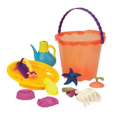 北美 B.Toys/比乐 儿童大型沙滩桶夏日海边宝宝玩沙工具套装玩具