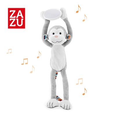 荷兰 ZAZU 猴子动物毛绒音乐玩具宝宝婴儿音乐安抚夜灯2合1节能护眼
