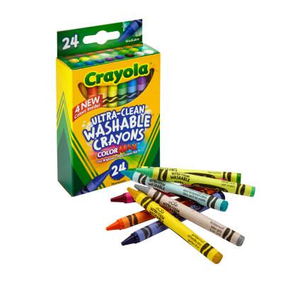 美国 Crayola/绘儿乐 24色/16色 可水洗蜡笔 儿童画笔