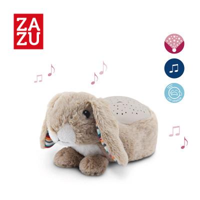 荷兰 ZAZU 星空投影仪新生宝宝睡眠安抚夜灯灯光多色调节动物毛绒玩具