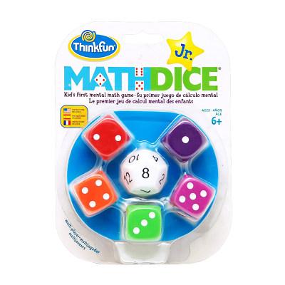美国 ThinkFun/新想法 数字骰子 大号塑料骰子算术游戏 思维益智玩具