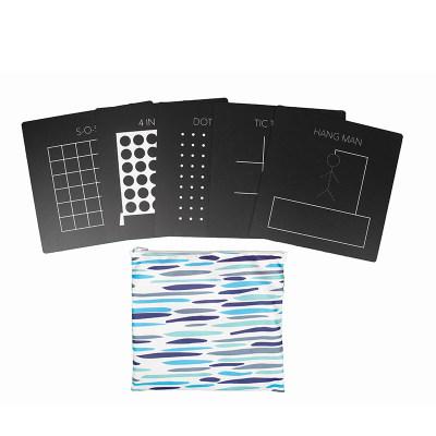 美国 Jaq Jaq Bird 游戏板套装 儿童便携画板无尘小黑板双面可擦