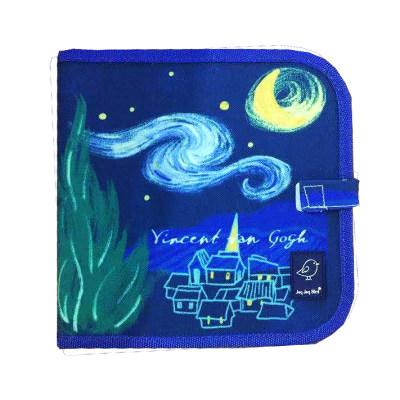 美国 Jaq Jaq Bird 儿童便携画书涂色画板本带无尘粉笔