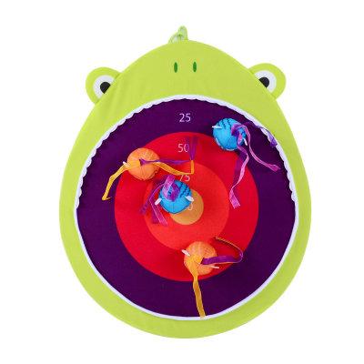 北美 B.Toys/比乐 搭扣飞靶大嘴鲨大嘴蛙儿童飞镖玩具魔术贴宝宝粘靶盘
