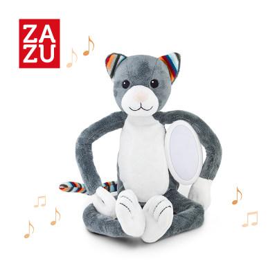 荷兰 ZAZU 小猫动物毛绒音乐玩具宝宝婴儿音乐安抚夜灯2合1节能护眼