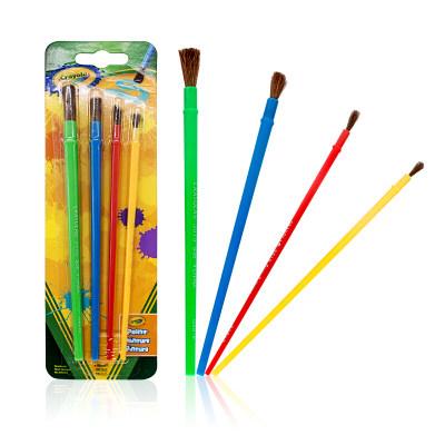 美国 Crayola/绘儿乐 画刷4支装 美术颜料绘画玩具 涂色工具涂鸦笔