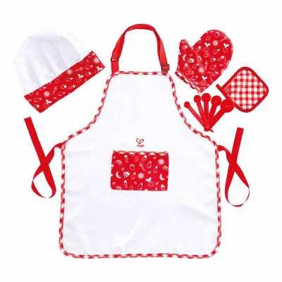 德国Hape 美食家厨师服 儿童过家家仿真厨房玩具宝宝围裙男女孩3岁+