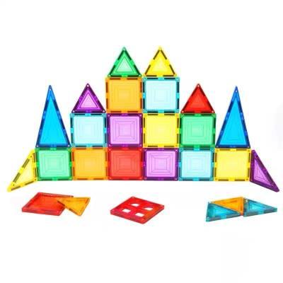 智邦 彩窗磁力片男女孩儿童益智玩具46片-80片透明磁性吸石积木