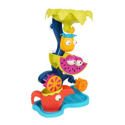 北美 B.Toys/比乐 热带猫头鹰回转水车儿童沙漏流水转轮玩水沙滩玩具
