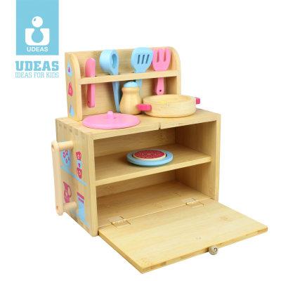 美国 Udeas/有点 role play系列儿童仿真厨房工具台过家家玩具
