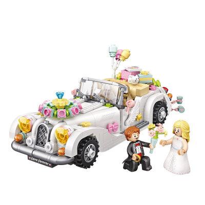 LOZ/俐智 小颗粒婚车积木迷你车模拼插益智玩具潮玩DIY