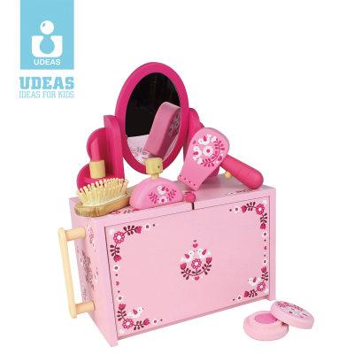 美国 UDEAS/有点 role play 系列儿童仿真梳妆台过家家玩具