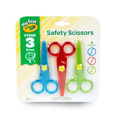 美国 绘儿乐/crayola 圆头剪刀3件套装 可爱创意手工裁剪安全专用