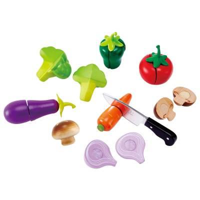德国Hape 田园时蔬切切乐 儿童过家家仿真果蔬木制益智玩具男女孩3岁+