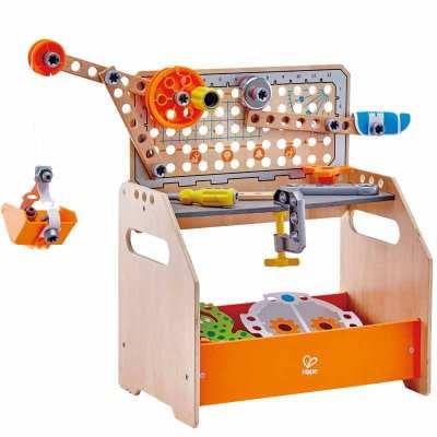 德国Hape 科学物理实验台益智玩具套装4岁过家家学龄前STEAM拆装玩具